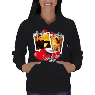 Kişiye Özel Bayan Kapşonlu Sweatshirt - Thumbnail