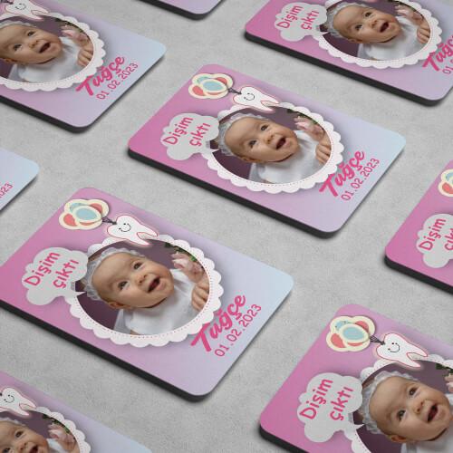 Kız Bebekler İçin Diş Buğdayı Magneti - Thumbnail