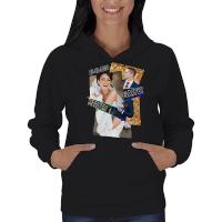 Kolaj Baskılı Kişiye Özel Bayan Kapşonlu Sweatshirt - Thumbnail