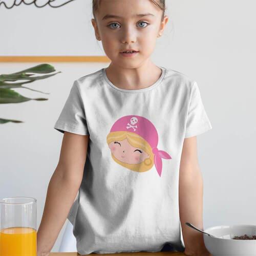 Tisho - Korsan Kız Çocuk Tişört - Tekli Kombin