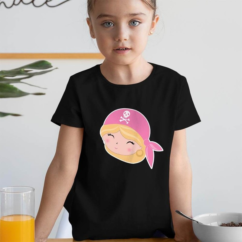 Tisho - Korsan Kız Çocuk Tişört - Tekli Kombin (1)