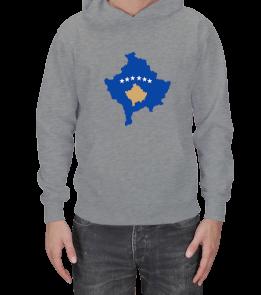 odabuda - Kosova haritası baskılı Erkek Kapşonlu