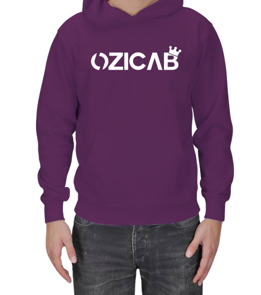 Ozicab Web Design - Kral Taçlı Tasarımlı Ozicab Logolu Kapüşonlu Erkek Kapşonlu