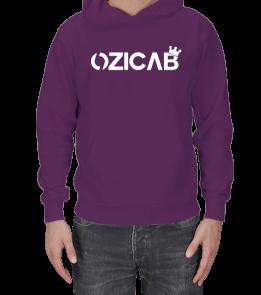 Kral Taçlı Tasarımlı Ozicab Logolu Kapüşonlu Erkek Kapşonlu
