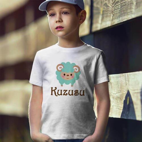 Tisho - Kuzu Baskılı Erkek Çocuk Tişört - Tekli Kombin