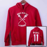 Tisho - Lacrosse Kapşonlu Hoodie - S Beden, Kırmızı