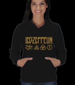 tişört4 - Led Zeppelin Kadın Kapşonlu