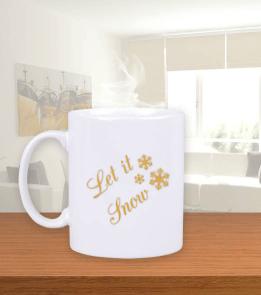 MeizDesign - Let it snow kupa Beyaz Kupa Bardak