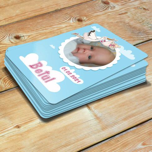 Tisho - Leylek Tasarımlı Kız Bebek Magneti