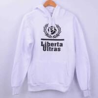Tisho - Liberta Ultras Kapşonlu Sweatshirt - M Beden, Beyaz