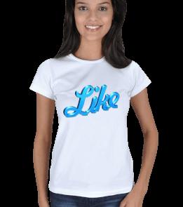 Alo Tasarım - Like Beğen Kadın Tişört