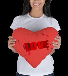 KralTişört - Love Aşk Yastığı Kalp Yastık