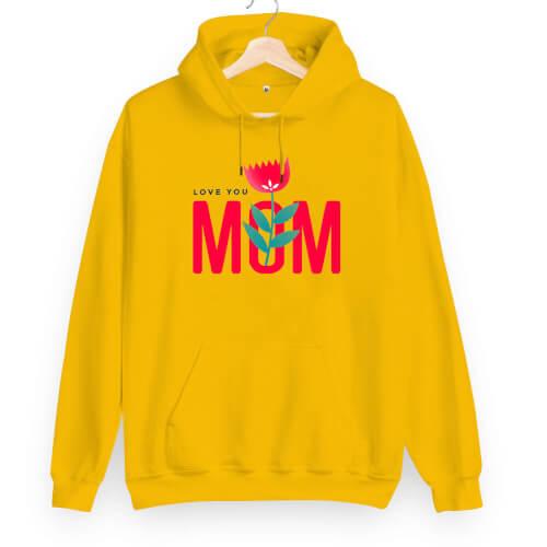 Tisho - Love You Mom Unisex Kapüşonlu Sweatshirt (1)