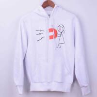 Tisho - Magnet Tasarımlı Kadın Sweatshirt - M Beden, Beyaz