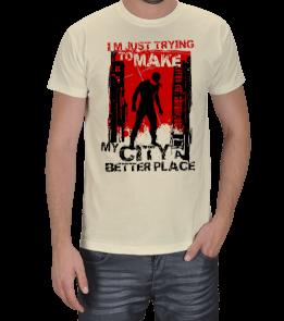 Turuncu Oda Tasarım - MARVEL | Daredevil Baskılı Erkek Tişört