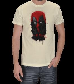 Turuncu Oda Tasarım - MARVEL   Deadpool Baskılı Erkek Tişört