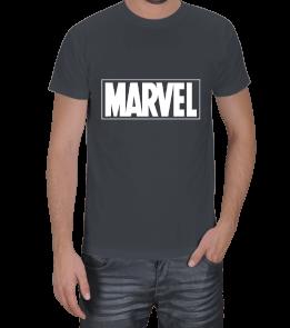 Geek-Shirt - MARVEL T-Shirt Koyu Gri Erkek Tişört