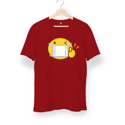 Tisho - Maskeli Emoji Unisex Kısa Kol Tişört
