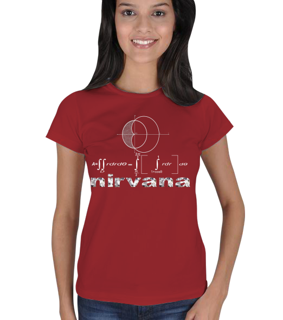 mathdesign - Matematikte Nirvana BK Kadın Tişört