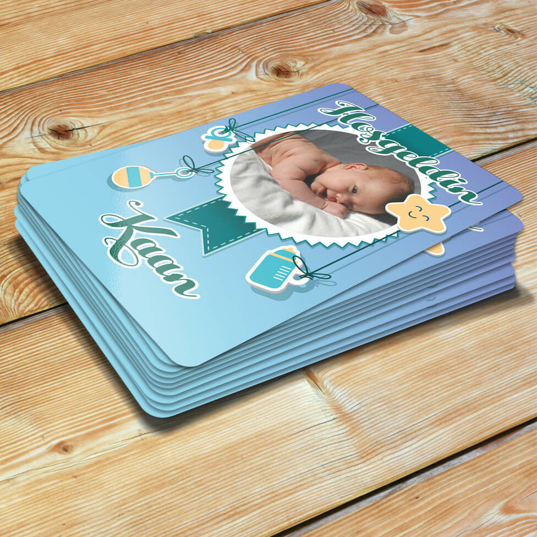 Mavi Hoşgeldin Bebek Magneti