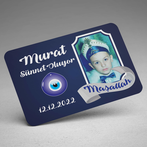 Mavi Maşallah Sünnet Magneti - Thumbnail