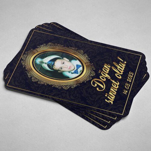 - Mavi ve Altın Çerçeveli Sünnet Magneti