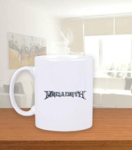 mk1500shop Aksesuar - Megadeth Beyaz Kupa Bardak