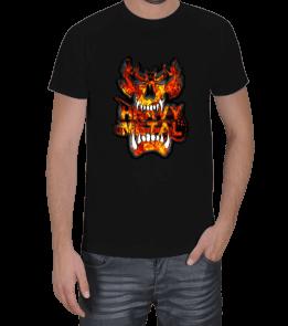 Teknobiyonik Tasarım - Metal Alevli Tişört Erkek Tişört