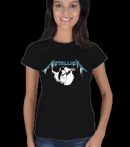 Licer - Metallica Penguen Kadın Tişört