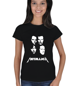 Metal Giyim - Metallica Siyah Kadın Tişört