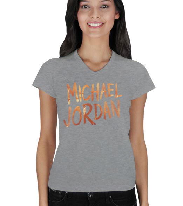 Jumpman - Michael JORDAN Kadın V Yaka