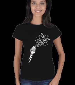Baskı Atölyesi - Mikrofon Kadın Tişört