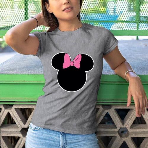 Minnie Mouse Kadın Kısa Kol Tişört - Tekli Kombin