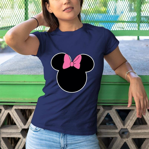 Minnie Mouse Kadın Kısa Kol Tişört - Tekli Kombin - Thumbnail