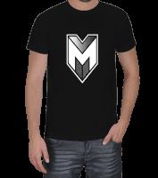 Yedinci Liva - Mirliva Beyaz Logo Erkek Tişört Erkek Tişört