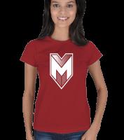 Yedinci Liva - Mirliva Beyaz Logo Kadın Tişört Kadın Tişört