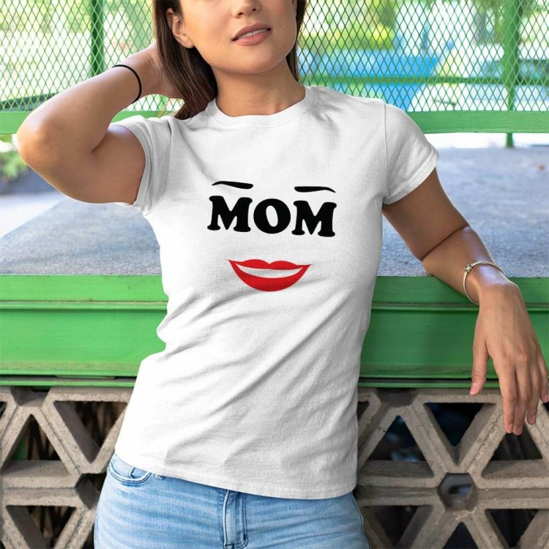 Tisho - Mom Anne Tasarımlı Kadın Kısa Kol Tişört - Tekli Kombin