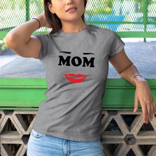 Mom Anne Tasarımlı Kadın Kısa Kol Tişört - Tekli Kombin - Thumbnail