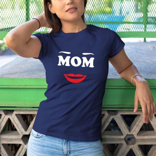 Mom Anne Tasarımlı Kadın Kısa Kol Tişört - Tekli Kombin