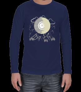 Techno - Moon Song Blue Erkek Uzun Kol
