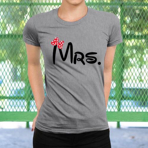 Tisho - Mrs. Kadın Kısa Kol Tişört - Tekli Kombin