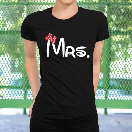 Mrs. Kadın Kısa Kol Tişört - Tekli Kombin - Thumbnail