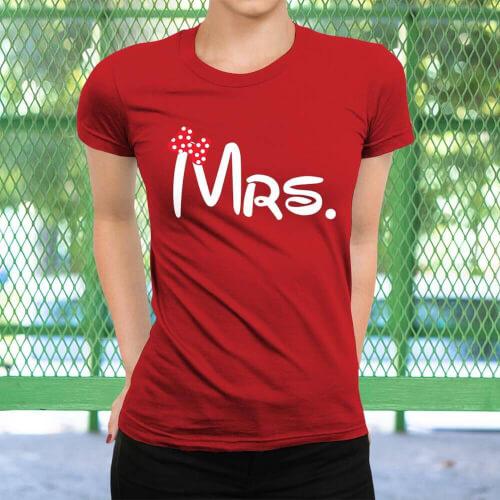 Mrs. Kadın Kısa Kol Tişört - Tekli Kombin