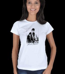 Ms Art Tasarım - MS 1401 CHARLİ CHAPLİN Kadın Tişört