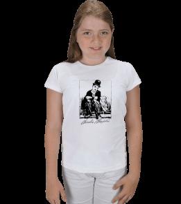Ms Art Tasarım - MS 3404 CHARLİ CHAPLİN KIZ Çocuk Karpuz Kol