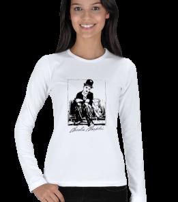 Ms Art Tasarım - MSK-1402 CHARLİ CHAPLİN Kadın Uzun Kol