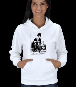 Ms Art Tasarım - MSK 1406 CHARLİ CHAPLİN Kadın Kapşonlu