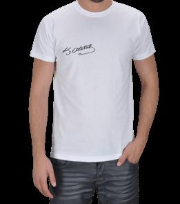 EU DESİGN - Mustafa Kemal Atatürk imzalı tisho Erkek Tişört