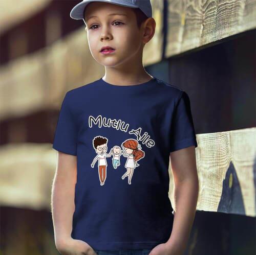 Tisho - Mutlu Aile Erkek Çocuk Tişört - Tekli Kombin