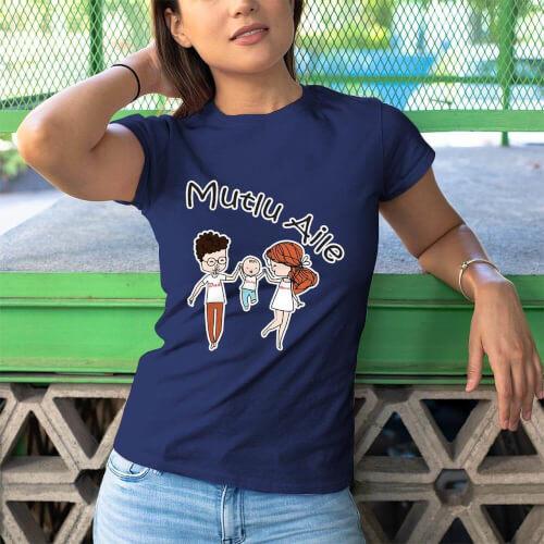 Mutlu Aile Kadın Tişört - Tekli Kombin
